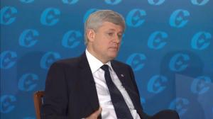 Harper says government deficit a result of snowball effect