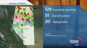 Wildfire forces Alberta community out
