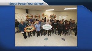 Canadian students work with special technolgy to make schools environmentally friendly