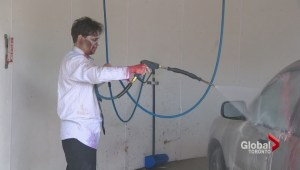 Zombie car wash raises money for zombie walk