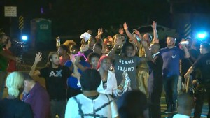 More subdued night of protests in Ferguson