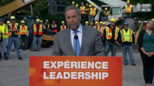 NDP leader Tom Mulcair announces plan to create more youth jobs during Winnipeg campaign stop