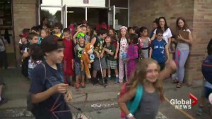 Students in Toronto celebrating the last day of school