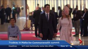 Trudeau in Malta for Commonwealth Summit