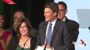 BC Civic Election: Gregor Robertson speaks to supporters after winning third term as Mayor