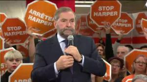 Mulcair clashes with leader of Saskatchewan NDP over issue of Keystone XL pipeline