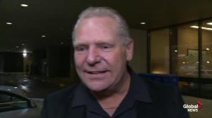 Doug Ford says Rob's tumour has shrunk as a result of chemo