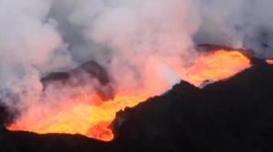 Raw video: Holuhraun lava field erupts in Iceland
