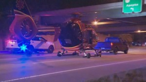 Drunk driver hits medical helicopter trying to transport patient