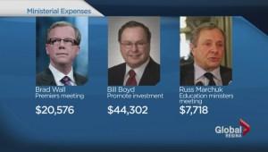 Ministerial travel expenses revealed