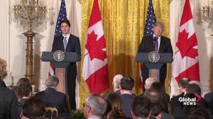 Trump not totally confident that Canada/U.S. border is secure