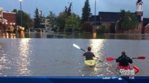 Wild weather rocks parts of central Alberta Monday night