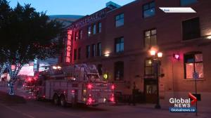 Fire crews respond after bizarre break-in at Mercer Warehouse in downtown Edmonton
