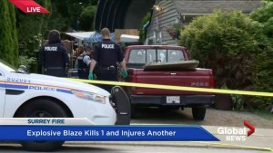 Suspicious fire in Surrey leaves one dead, one in serious condition