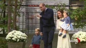 Rare glimpse of Prince George and Princess Charlotte at party hosted for military families