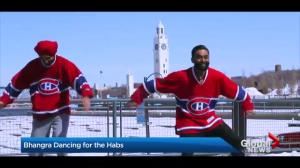 Bhangra dancers celebrate Montreal Canadiens playoff spot