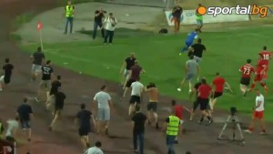 Israeli soccer team chased off the pitch by angry fans following red card
