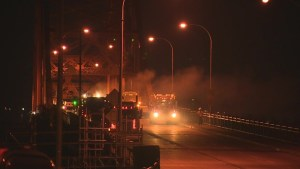 TransLink apologizes for noise on 1st night of Pattullo Bridge repairs