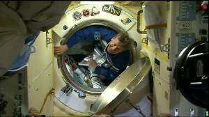 One-Year Mission Soyuz hatch opens into the ISS