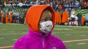 Leah Still honoured at Bengals game in her fight against pediatric cancer