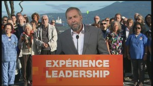 NDP leader Tom Mulcair says pensions and aging population a priority