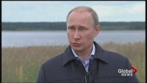 Putin speaks out as Ukraine crisis takes on new dimension