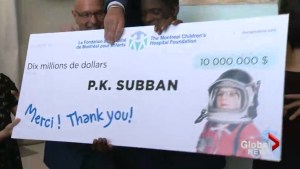 Subban grand donation to Montreal Children's