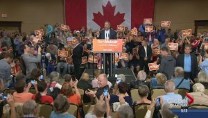 NDP Leader Mulcair stops in the BC Southern Interior
