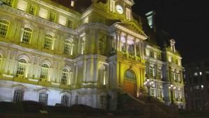 Raw Video: City hall lighting