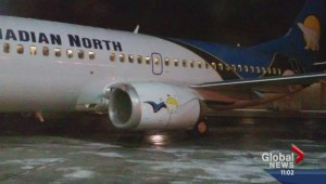 Emergency landing at Calgary airport
