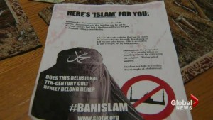 Alberta community besieged by anti-Muslim flyers