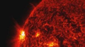 Powerful solar flare erupts from the sun