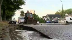 Homes evacuated after water main burst in East Vancouver