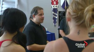 Ex bouncers help women who have been victims of domestic violence