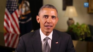 Obama addresses his commitment to combating climate change