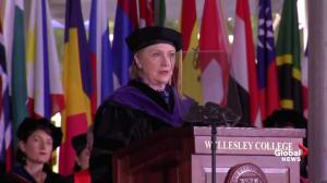 Clinton criticizes Trump, alt-right in Wellesley College address