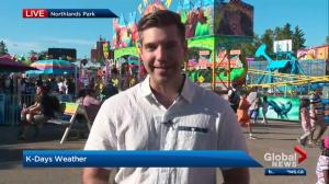 Edmonton weather forecast live from K-Days: July 25
