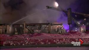 Laval strip mall destroyed by fire