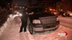 Calgary drivers nabbed by snow route parking ban