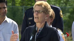 Premier Wynne tours Angus disaster site