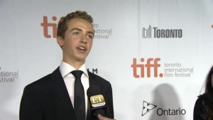 "TIFF Red Carpet: Actor Evan Bird from the film ""Maps to the Stars"""