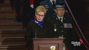 Premier Wynne holds memorial service for fallen first responders