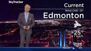 Edmonton Jan. 12, 2017 early morning weather forecast