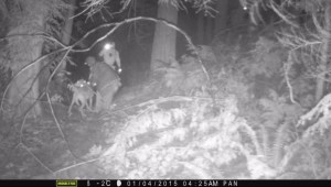 Caught on camera: Officers catch woman setting mountain bike traps