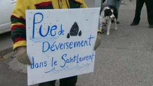 Protesters upset over ongoing sewage dump