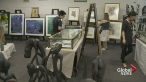 Rare art auctioned off