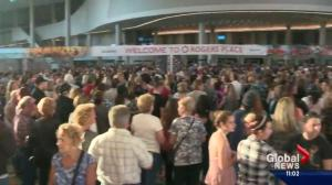 Downtown Edmonton buzzing with people for first official concert at new arena