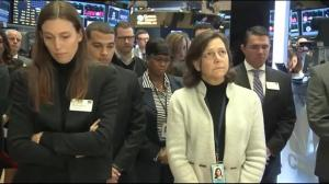 Moment of silence held in New York Stock Exchange for Paris attack victims