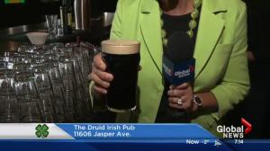 Celebrating St. Patrick's Day in Edmonton: Pouring a perfect pint