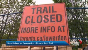 Lower Don Trail to remain closed until late fall